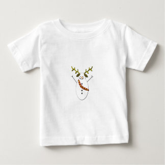 Snowman Dog with antlers Baby T-Shirt