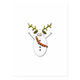 Snowman Dog with antlers Postcard