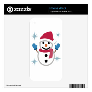 Snowman Drawing iPhone 4S Skins