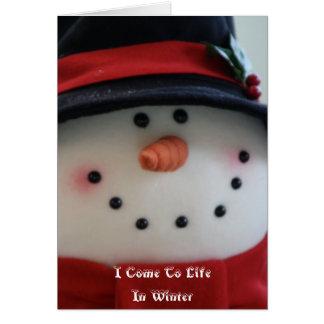 Snowman Dream Card