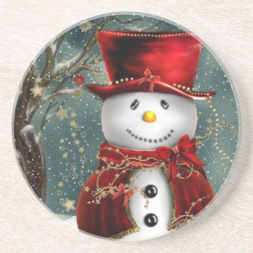 Snowman Drink Coasters Zazzle