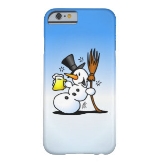 Snowman drinking a beer barely there iPhone 6 case