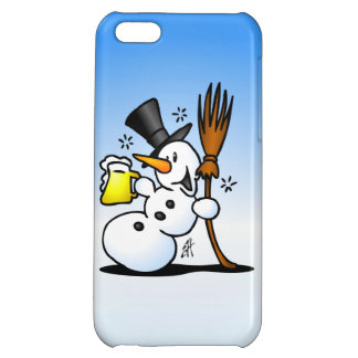 Snowman drinking a beer case for iPhone 5C