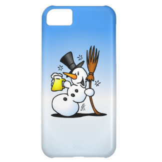 Snowman drinking a beer cover for iPhone 5C