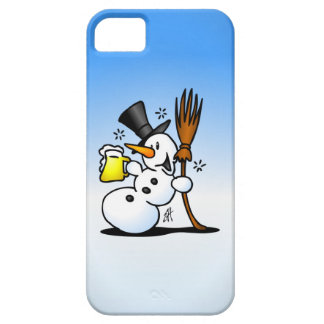 Snowman drinking a beer iPhone SE/5/5s case