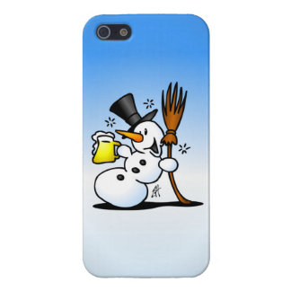 Snowman drinking a beer iPhone SE/5/5s cover