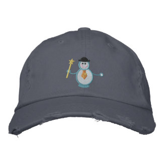 Snowman Embroidered Baseball Caps