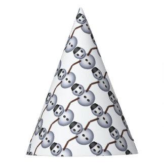 Snowman Emoji pattern Party Hat