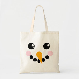 Snowman Face Budget Tote Bag