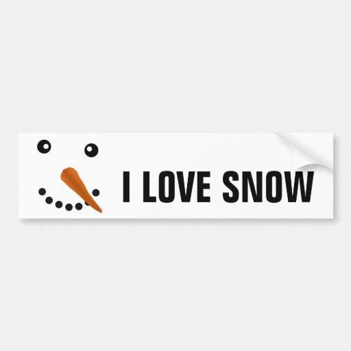 SNOWMAN FACE BUMPER STICKER