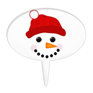 Snowman Face Cake Topper