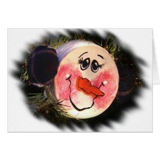 Snowman Face Card