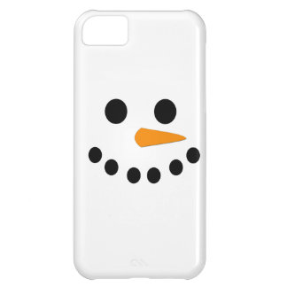 Snowman Face iPhone 5C Covers