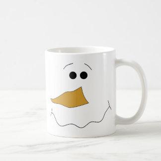 Snowman Face Coffee Mug