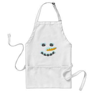 Snowman Face Design Adult Apron