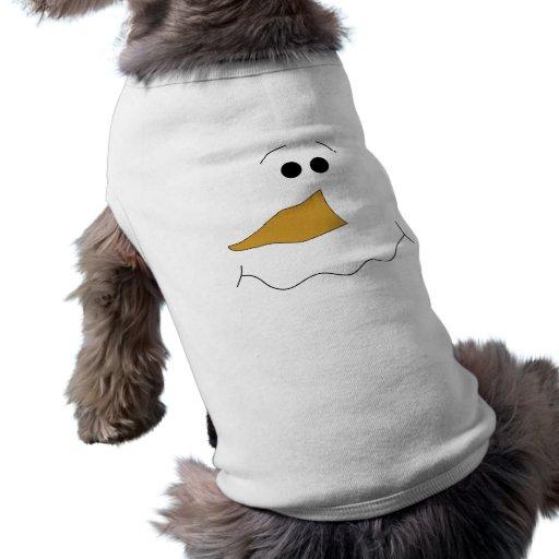 Snowman Face Dog Tshirt