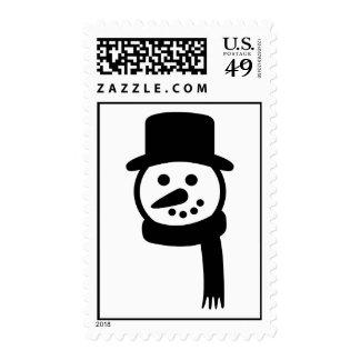 Snowman face hat stamp