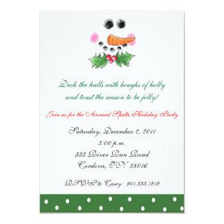 Snowman Face Holiday Invitation