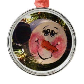 Snowman Face Ornament ornament