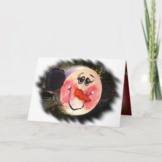 Snowman Face Ornament card