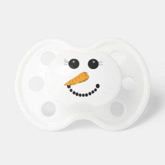 Snowman Face Pacifiers