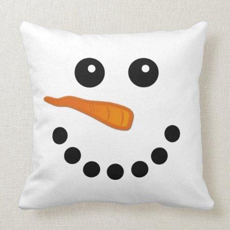 Snowman Face Pillow