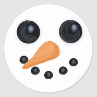 Snowman Face Stickers