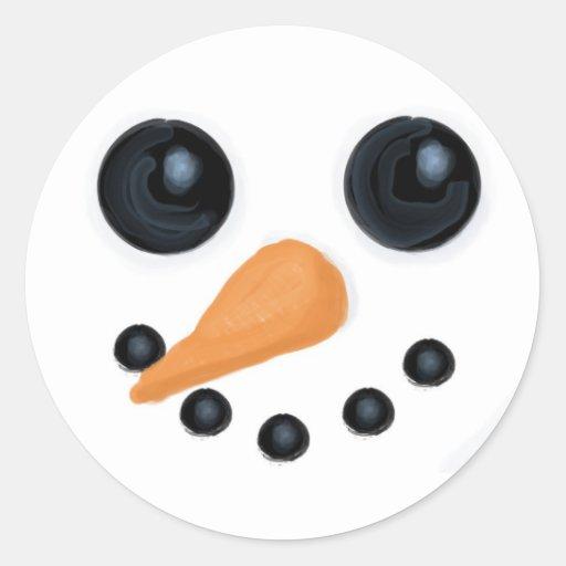Snowman Face Stickers   Zazzle