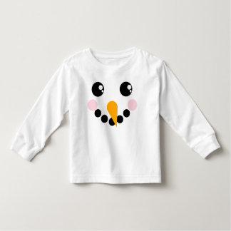 Snowman Face Toddler T-shirt