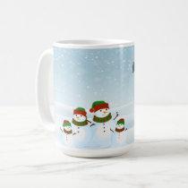 Snowman Family and Santas Sleigh Christmas Mug