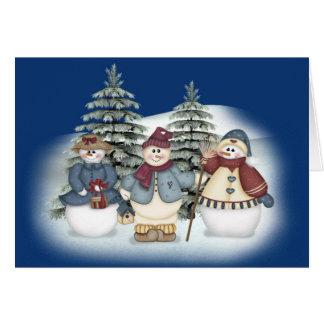 Snowman Family Cards
