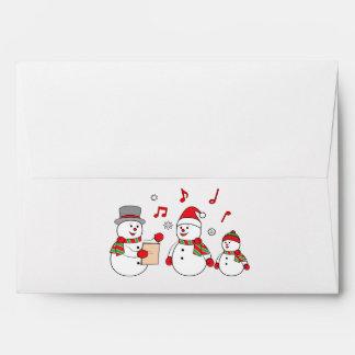 Snowman Family Caroling Merry Christmas Envelope