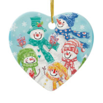 Snowman Family Christmas Ornaments