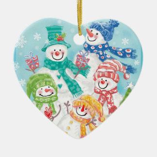 Snowman Family Christmas Ornaments