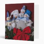 Snowman Family Christmas Wreath Vinyl Binder