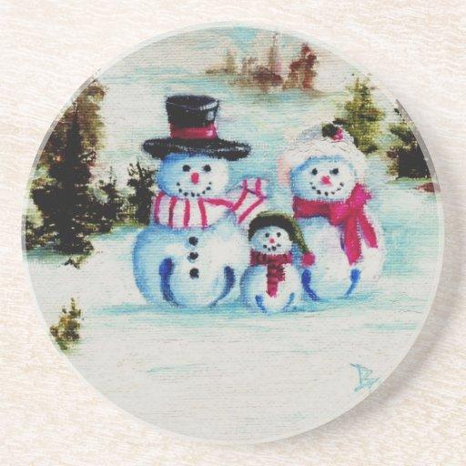 Snowman Family Coaster