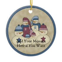 Snowman Family :: Customizable Holiday Ornament