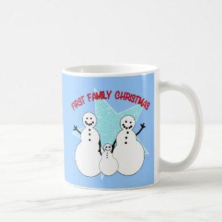 Snowman Family First Family Christmas Coffee Mug