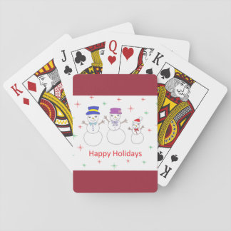 Snowman Family Happy Holidays Deck Of Cards