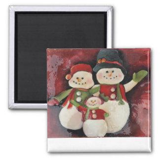 Snowman Family - Magnet