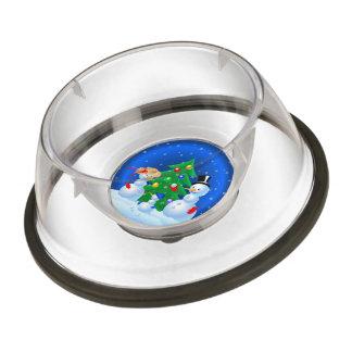 Snowman Family Pet Bowl