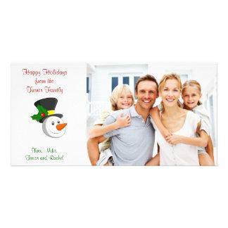 Snowman Family Photo Card