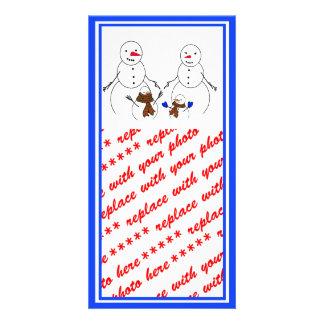 Snowman Family Photo Card Template