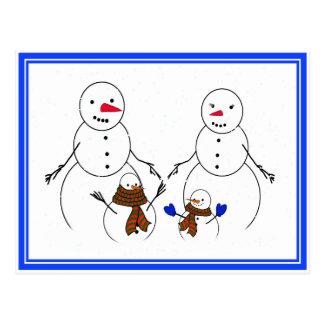 Snowman Family Post Card