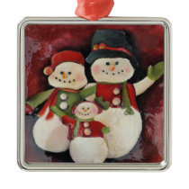 Snowman Family- Premium Christmas Ornament