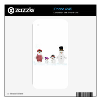 snowman family skin for iPhone 4