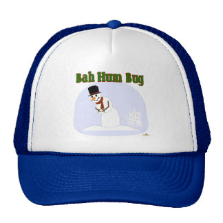 Snowman Farting Bah Hum Bug Green Trucker Hat