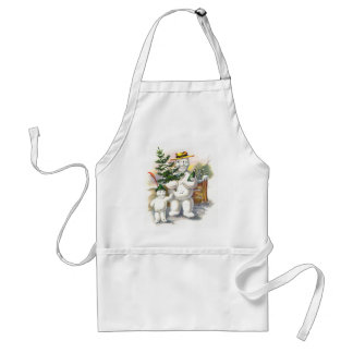 Snowman Father and Son Apron