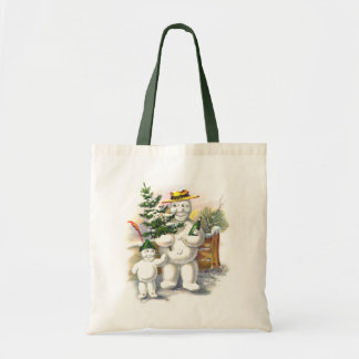 Snowman Father and Son Tote Bags