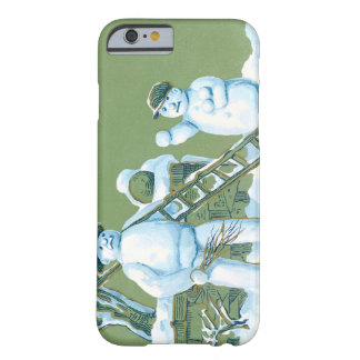 Snowman Father And Son Snow Ladder Snowball Barely There iPhone 6 Case